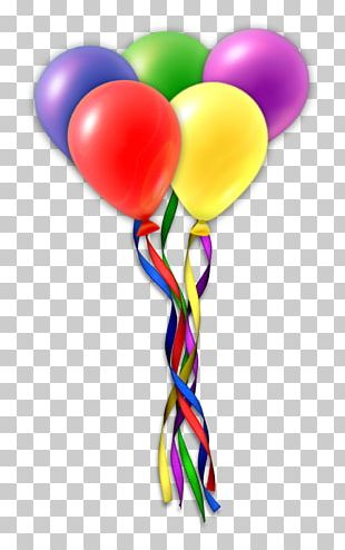 Birthday Cake Balloon Gift PNG