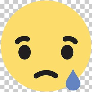 Facebook Like Button Sadness Emoticon PNG