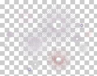 White Circle Black Pattern PNG