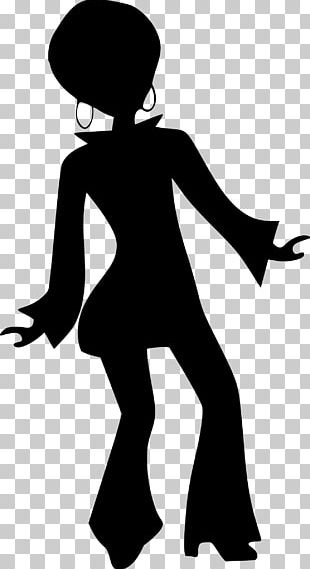 Disco Dance Silhouette PNG
