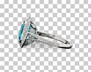 Gemological Institute Of America Tourmaline Ring Paraíba Diamond PNG