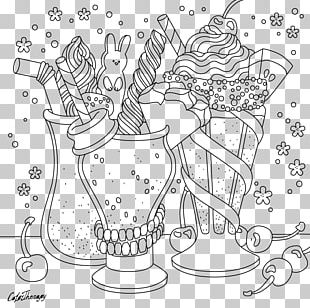 Junk Food Coloring Book: 24 Page Coloring Book Cupcake Mandala PNG