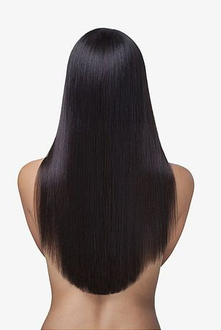 Long Hair Fluttering Back PNG