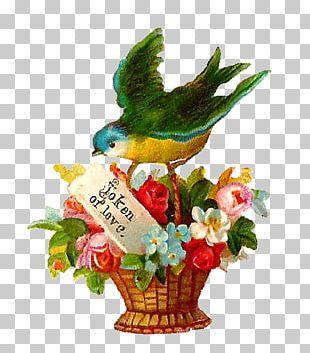 Flowerpot Floral Design Basket PNG