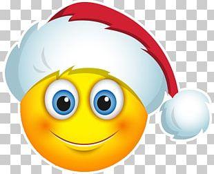 Emoji Smiley Christmas Santa Claus Emoticon PNG