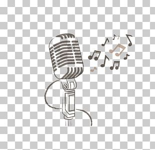 Microphone Retro Style Illustration PNG