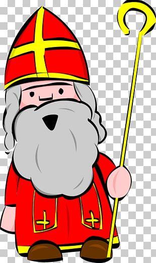 Santa Claus Christmas Cartoon Line PNG