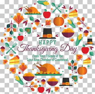 Happy Thanksgiving Day! Wish Place Cards Holiday PNG