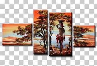 Oil Painting Canvas Africa Art PNG