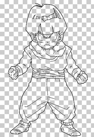 Gohan Goku Coloring Book Colouring Pages Super Saiyan PNG