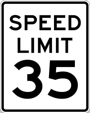 Speed Limit Traffic Sign Warning Sign Manual On Uniform Traffic Control Devices PNG