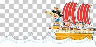 Watercraft Sailor Cartoon PNG