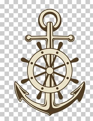 Anchor Ships Wheel Paper PNG