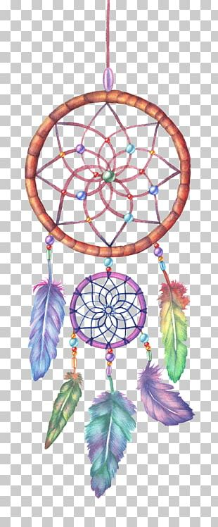 Dreamcatcher Watercolor Painting Drawing Illustration PNG
