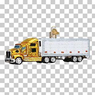 Semi-trailer Truck Christmas Ornament Car PNG