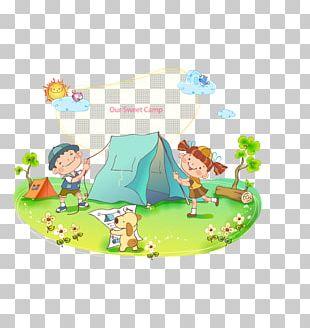 Tent Camping Cartoon PNG