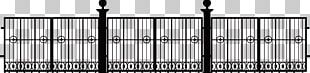 Black And White Fence Structure Font PNG