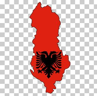 Flag Of Albania Map Stock Photography PNG