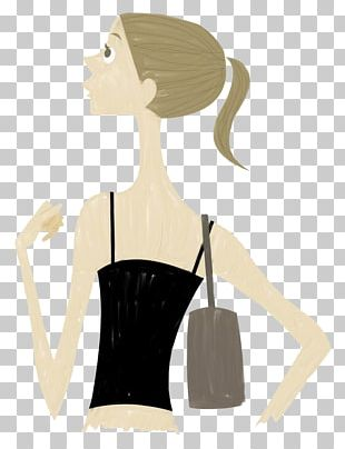 Business Woman Painted Black Hair PNG