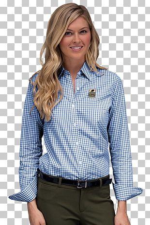 T-shirt Dress Shirt Gingham Sleeve PNG
