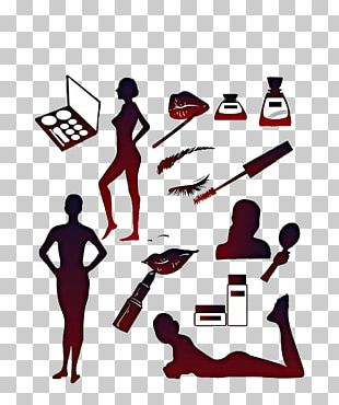 Cosmetics Silhouette Model PNG