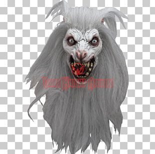 Latex Mask Halloween Costume White PNG