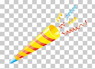 Confetti Birthday Party Horn PNG