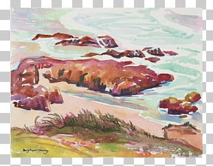 Pacifica Watercolor Painting Paper 20th Century PNG