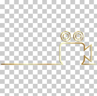 Line Triangle Gold PNG