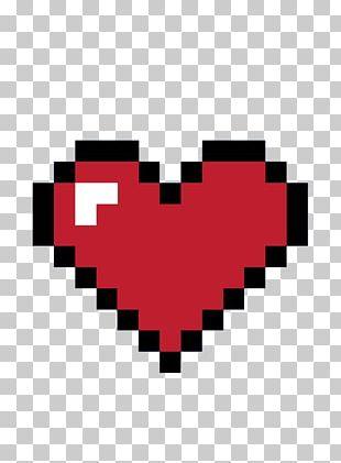 8bit Heart 8-bit Color Pixel PNG