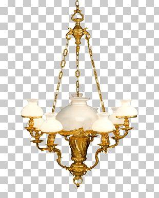 Chandelier Lighting Light Fixture Brass PNG