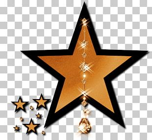 Gold Star Light PNG