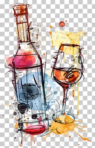 Red Wine Bottle Rosé PNG