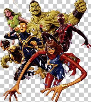 Spider-Man Iron Man Nova Champions Marvel Comics PNG