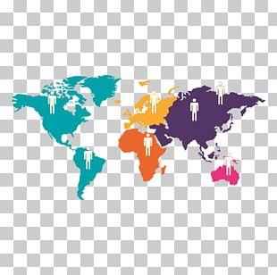 World Map Globe PNG