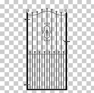 Wrought Iron Fence Gate Steel PNG