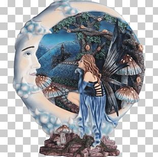 Blue Moon Fairy Figurine Pixie PNG