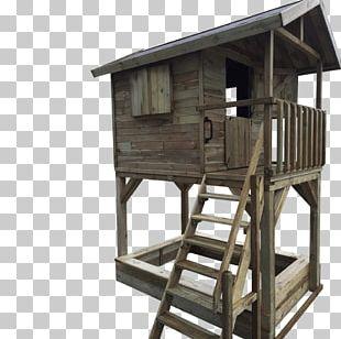 Tree House Wood Speelhuis Furniture PNG