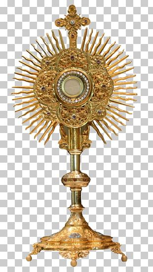 Monstrance Blessed Sacrament Eucharistic Adoration Holy Card PNG