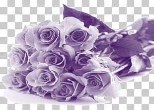 Happy Mothers Day Purple Flowers PNG