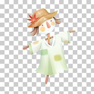 Cartoon Scarecrow Illustration PNG