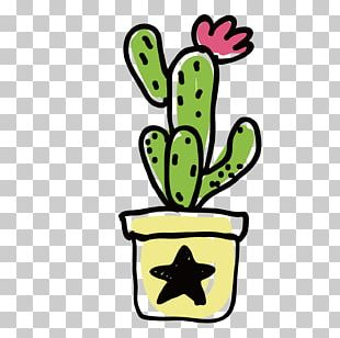 Watercolor Painting Happy Birthday Vector Images Cactus PNG