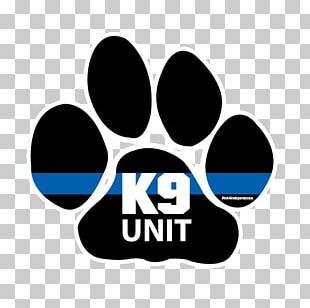 Police Dog Paw Thin Blue Line PNG