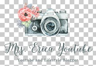 Camera Photography Watercolor Painting Logo PNG