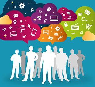 Social Media Communication Business Innovation Organization PNG