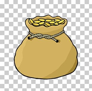 Gold Drawing Money Bag PNG