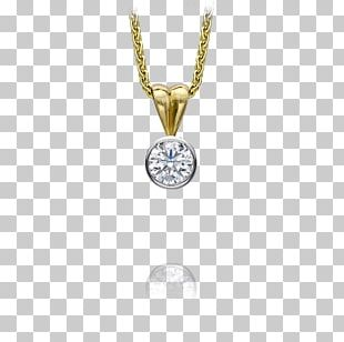 Locket Necklace Jewellery Solitaire Gold PNG