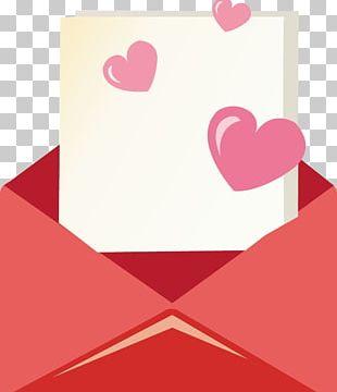 Envelope Heart Love Letter Illustration PNG