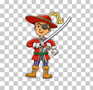 Piracy Cartoon Illustration PNG