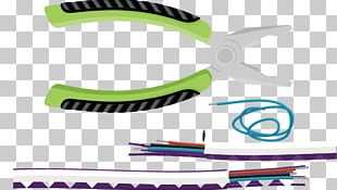 Flat Design Pliers Electrical Cable PNG